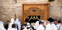 Mens Prayer at Western Wall 140616-6
