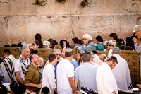 Celebrants at Western Wall 140616-1