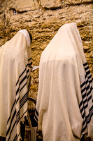 Immersed in Prayer at Western Wall 140416-1