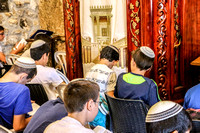 Class of Boys Praying at Kotel 1