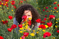 Young Lady in Poppy Field 2
