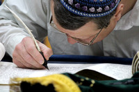 Sofer Completing the Holy Scroll 2