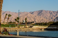 Eilat Port with Aquaba Mountains in Background