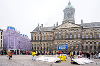 Falun Gong Demonstrators in Action Amsterdam 190131-2