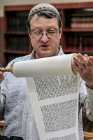 Scribe and Artifacts of Writing a Sefer Yehoshua Scroll