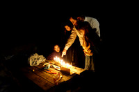 Lighting Candles 8th Day Chanuka - Givat Egoz