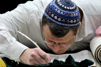 Sofer Completing the Holy Scroll 3