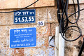 Stone Wall of Mekor Baruch - Hosting Street Sign, Street Numbers and Utility Services