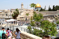 View onto Western Wall Plaza with Wall and Temple Mount in Background