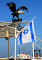 Israel Flag at Jaffa Port