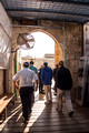 Jewish Group Entering Gate of Temple Mount