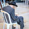 Elderly Man Praying at Kotel 1