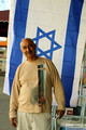 Local Shop Owner and Israel Flag